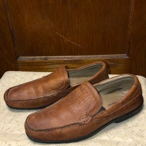 Hush Puppies Men's Tan Leather Moccasin Loafers